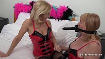 Mature British blondes in PVC and boots