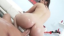 Curvy Big Booty Slut Nekane Sweet oiled Down for Anal in POV!