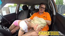 Fake Driving School Sexy busty blonde babe creampied on first lesson缩略图
