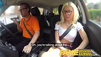 Image: Fake Driving School Sexy busty blonde babe creampied on first lesson
