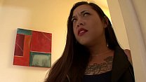 Tattooed brunette Eden Alexander with big melons and slant eyes decided to join couple having some Sapphic fun