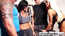 Nikita Von James joins a workout orgy with some hard bodies thumbnail