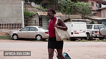 Ebony beauty has a great sex with a stranger