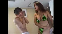 green bikini asian girl