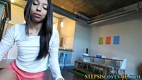 Tugging stepsister teen