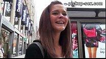 Cute amateur brunette Czech girl Kelly Sun fucked for money thumbnail