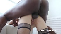 Ginger Fox gets deep fucked and gaped non stop with Big Black cock Vorschaubild