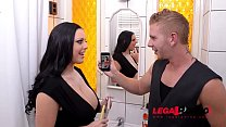 Themis Thunder & Sensual Jane shake their big round titties in XXX threesome GP681