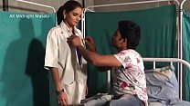 Hindi Lady doctor Shruti bhabhi romance with patient boy in blue saree hot scene video