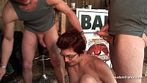 Amateur squirt redhead slut ass fucked and fist...