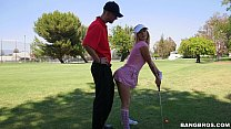 Sexy Golfer Girl gets on Her Knees for Dick thumbnail