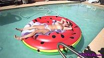 Big boobs blond gets fuck on a raft - TheFoxxxLife