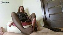 Sexy Teacher in Pantyhose Footjob after Work - Cum on Feet صورة