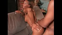 Black girl strips off her jeans before sucking ...