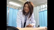 Japanese female doctor makes her patient cum thumbnail