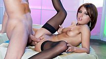 Erotic XXX dream cum true with Risi Simms sliding up and down a slick shaft
