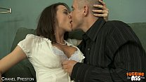 Busty Chanel Preston suck and ride anally a huge dick video