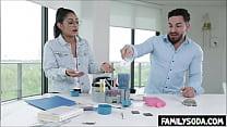 Scientist siblings fuck in the lab