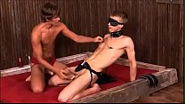 couple of hot boys in bdsm club