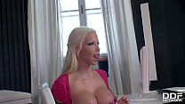 Bombshell Barbie Sins Throat Fucked by her Doctor