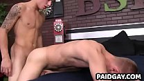 Teen twink and stud bareback anal before jacking off