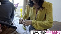 Sex Ed FFM Fuck For Big Tit Teacher And Students Preview