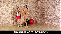 Nude sports training for sweet teen