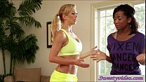 Pussy yoga with MILF Cherie De Ville and Ivy Sherwood