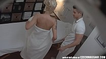 Screenshot Beautiful Big T its Blonde on Czech Massage zech Massage