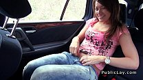 Russian amateur babe bangs in public pov