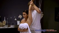 Massage Rooms Big tits Euro brunette Chloe Lamour in oiled up ecstasy porn thumbnail