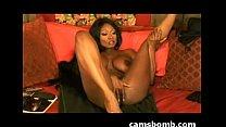 Beautiful ebony camgirl dildo fuck