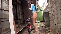 Chinese girl having sexy big butt