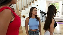 New step-mom Mercedes Carrera and her kinky daughters pornhub video