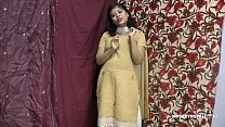 Rupali Indian Girl In Shalwar Suit Stripping Show