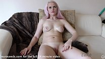 simona back and using hitachi on her click and finger blasting herself