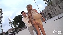 So greedy beurette offers us an outdoor night threesome