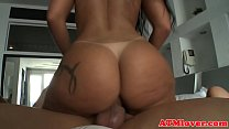 Anally doggystyled babe drilled in threeway