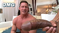 ITS GONNA HURT - Beefcake Of A Man Getting His Ass Hole Stretched By Castro Supreme And His Big Black Cock
