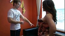 Leena Skye fucks her Son in his office