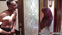 Nadia Ali sucks her neighbors black cock
