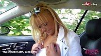MyDirtyHobby - Gorgeous blond gets fucked in the car! Vorschaubild