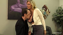 MILF Julia Ann Gets Her Step Son's Cum While He Lays On Her Big Tits!