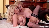 Busty lesbians Donna Bell & Chessie Kay lick their tasty wet pinks in 69