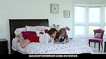 DaughterSwap - Two Hot Daugthers Get Fucked By Their Slutty Moms - 69VClub.Com