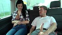 Ryan Ryder convince young innocet sweet Jasmine Jae to fuck in driving van preview image
