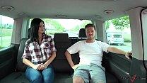 Ryan Ryder convince young innocet sweet Jasmine Jae to fuck in driving van thumbnail