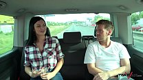 Ryan Ryder convince young innocet sweet Jasmine Jae to fuck in driving van image