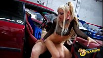 Young spanish slut Melody Star ass fucked in a garage porn image