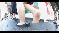 Sweaty Feet Publicfeet feet Girl Shoeplay Nylon Candid Feet voyeur foot